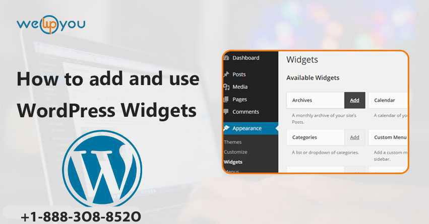 How to add and use WordPress Widgets