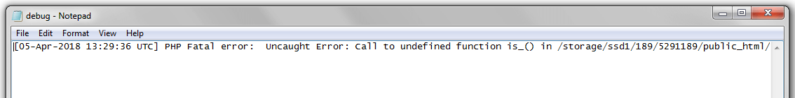 error-log-notepad