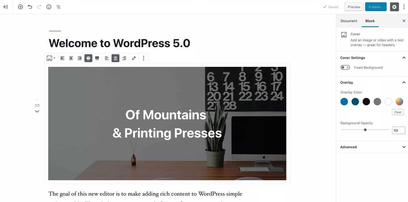 wordpress 5.0 release date 2018
