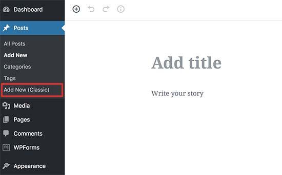 WordPress Classic2