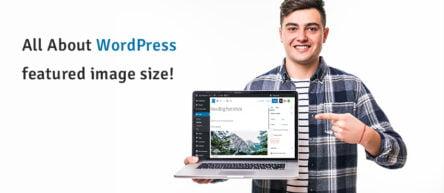 wordpress featured image size