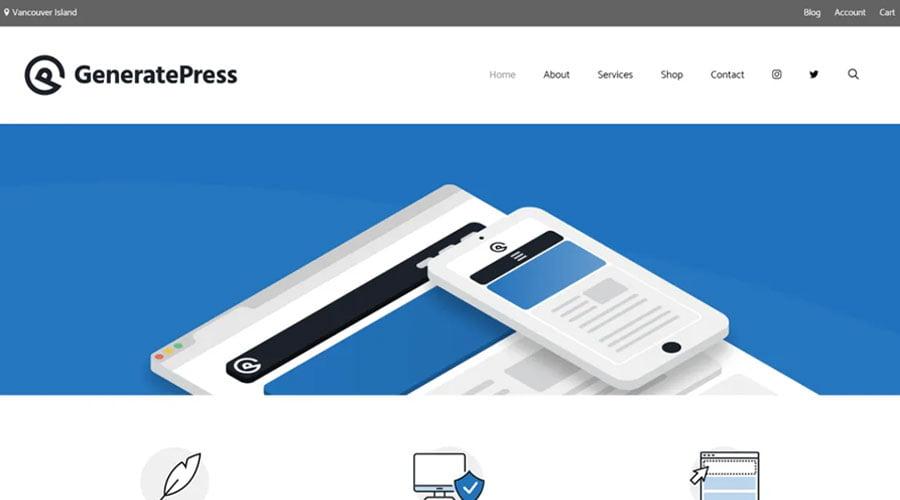 GeneratePress wp theme
