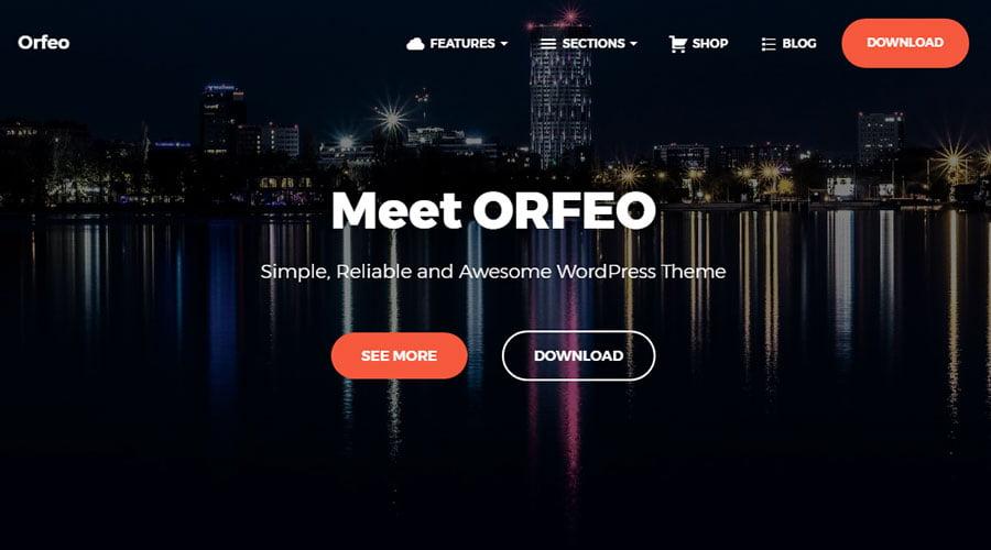 Orfeo wp theme