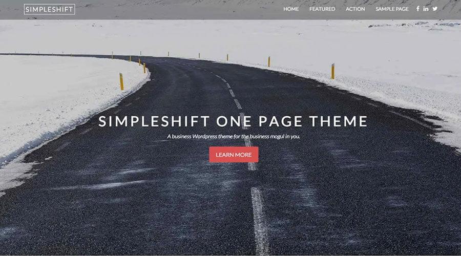 SimpleShift wp theme