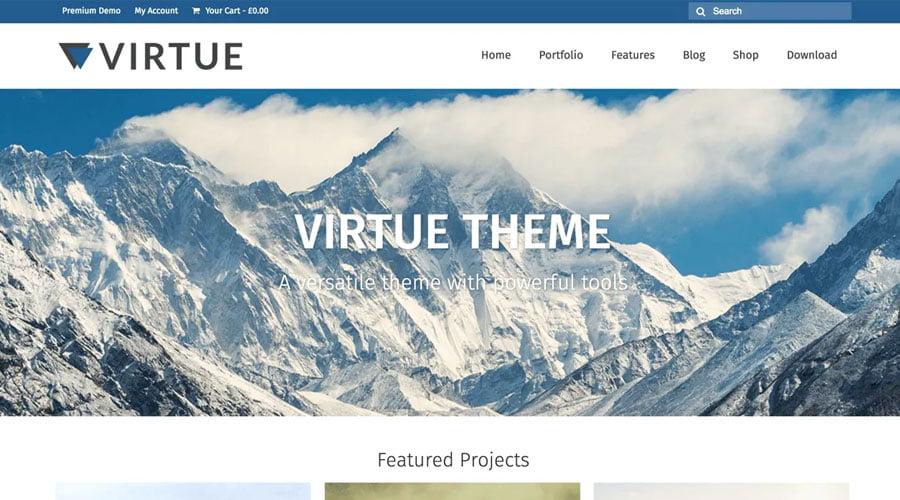 Virtue wp theme