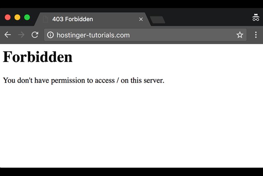 Forbidden error