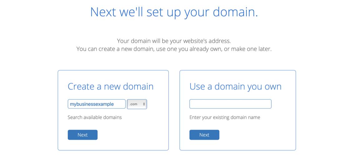 Choose the Free Domain
