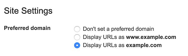 preferred domain settings